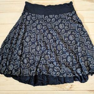 Velvet Brand Dot Pattern Swing Skirt
